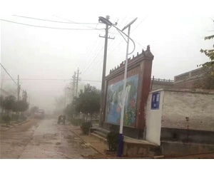 2016年11月18号曲周县安寨乡河固村街道亮化竣工 (3)